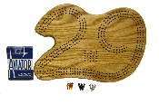 29 Cribbage board-Hangs on wall with Card & Peg Storage