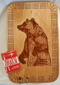 Cribbage board with laser image - 4 person Hanging